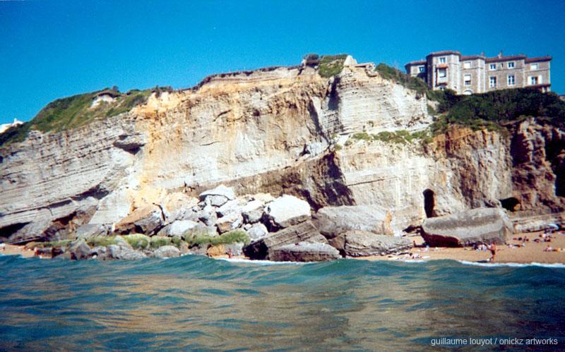 eboulements de miramar a biarritz