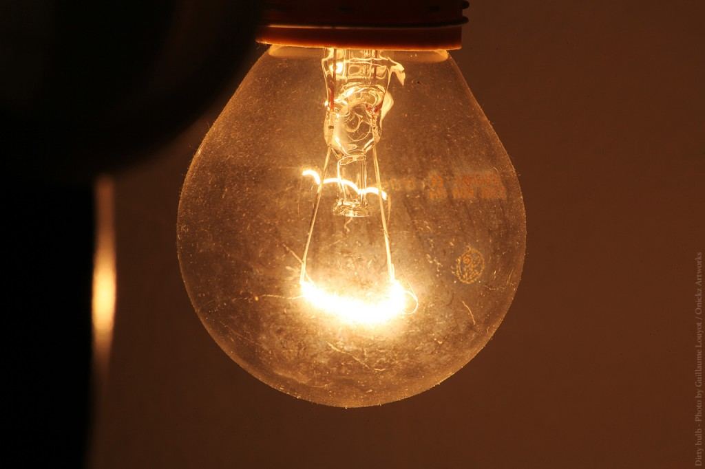 dirty lamp bulb