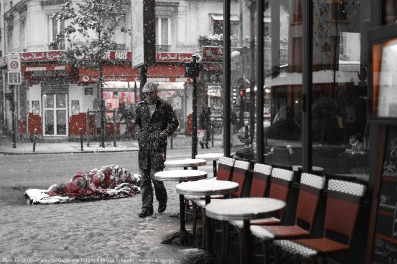 Paris Decembre 2010 - SDF _ photo Guillaume Louyot num_20606 © Onickz Artworks