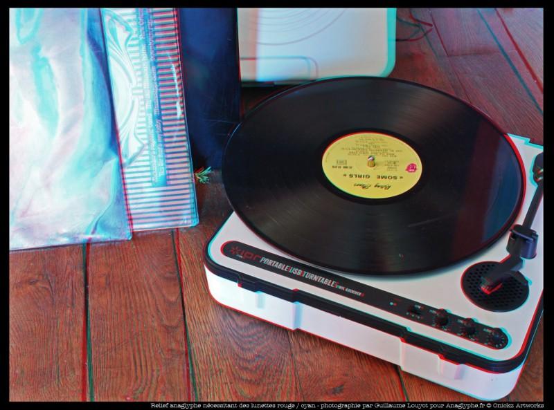 Portable LP player 3D