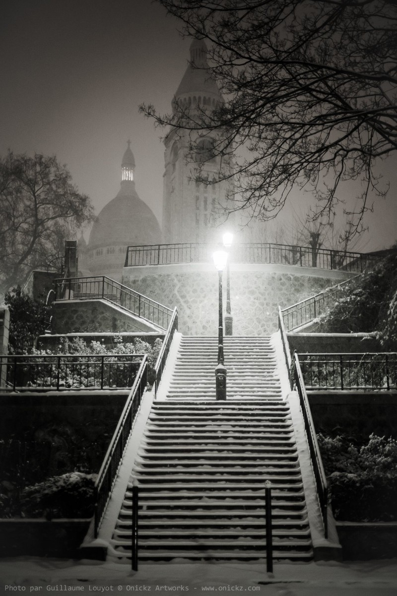 photography montrmartre paris sous la neige