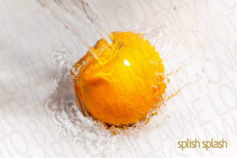 ORANGE WATER SPLASH photo 81824 PAR GUILLAUME LOUYOT b