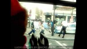 Lucky Cop Escape in Paris