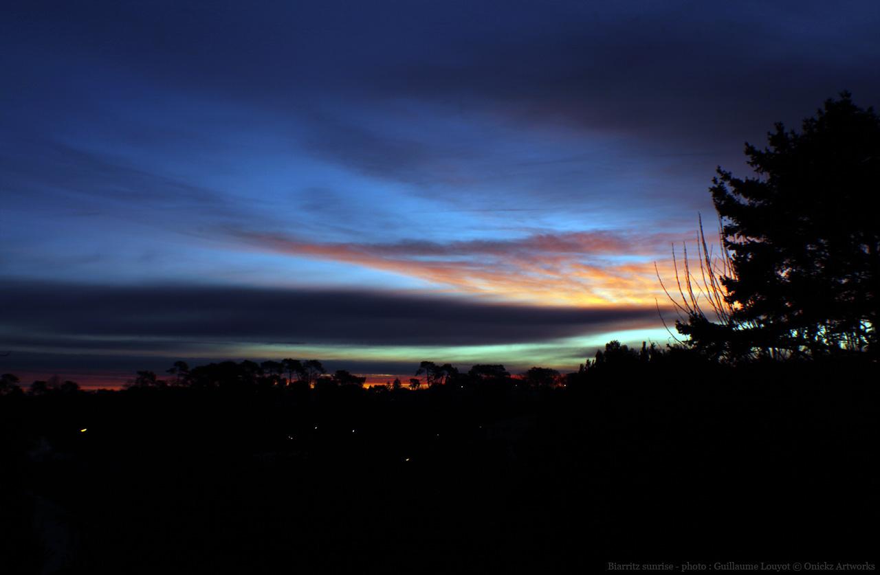 Sunrise in Biarritz, France, photo by Guillaume Louyot © Onickz Artworks