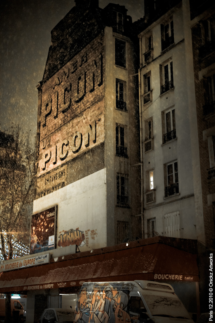 old painted wall advertising in paris photo onickz artworks
